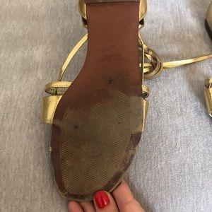 Zara Shoes - Gold ankle wrap Zara sandals
